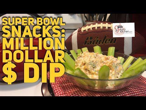 Super Bowl Snacks: Million Dollar Dip $ | Keto Friendly - CjsKetoKitchen.com #milliondollardip