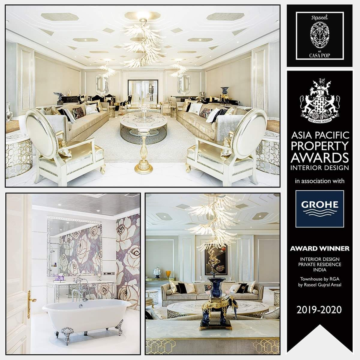 We Are Delighted To Announce That Ms Raseel Gujral Ansal Is A Recipient Of Award For In Interior Design Companies Top Interior Designers Interior Design Firms