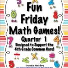 Put the fun back in Friday with these 10 super fun math games. These games are all simple to make, explain, and play. Best of all they were developed to support the 4th grade Common Core Standards. $5.00