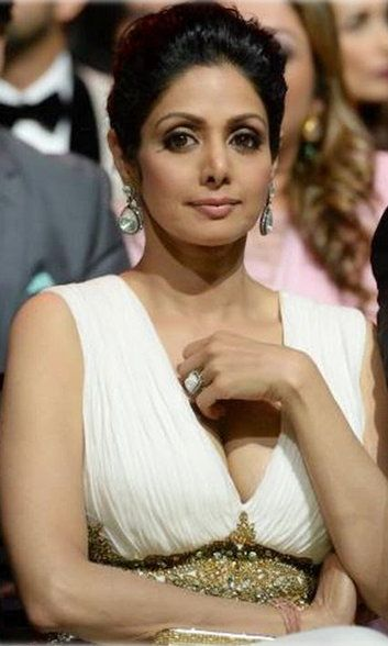 Sridevi boobs cleavage