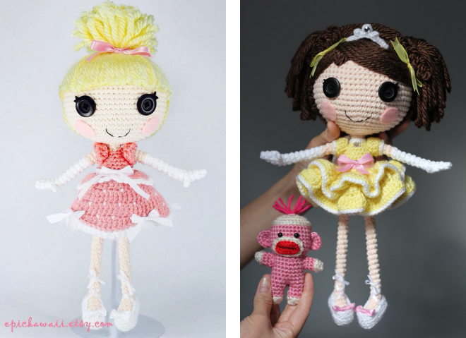 Amigurumi Doll Lalaloopsy Pattern : вязаная кукла крючком лалалупси amigurumi