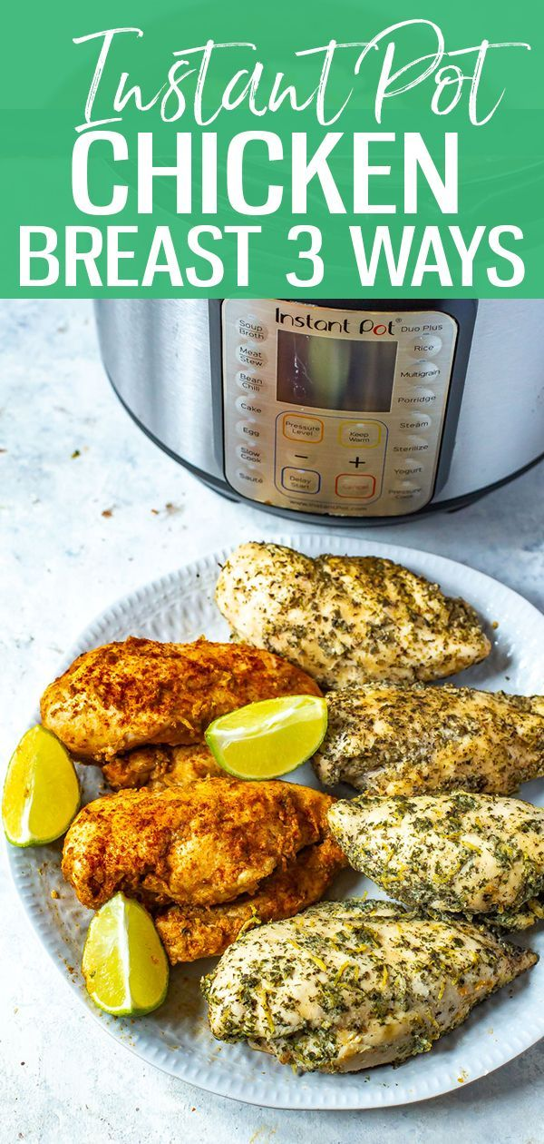 This Instant Pot Chicken Breast recipe is a failproof method of making juicy, delicious chicken breasts in your pressure cooker – I've listed 3 ways of seasoning them too! | instant pot | instant pot chicken recipes | instant pot meat recipes | how to cook chicken in the instant pot | instant pot meal prep || Eating Instantly #chickenrecipes #instantpotrecipes #instantpotchickenrecipes