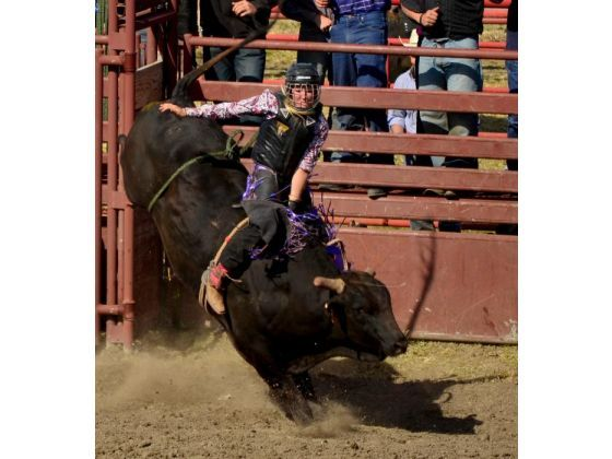Maggie Parker the only professional female bull rider! #redo