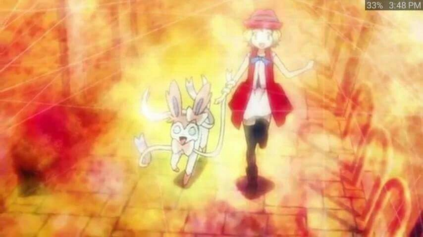 Serena and her newly evolved Sylveon