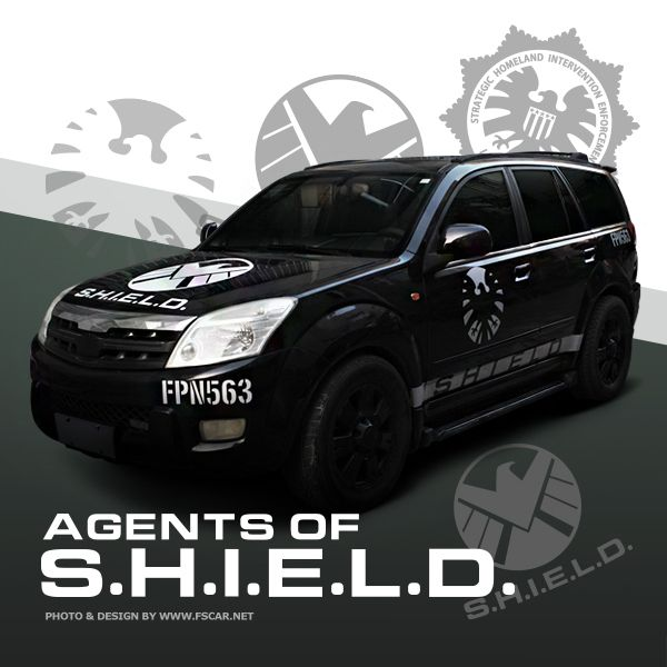 New Marvel Agents Of SHIELD Reflective Door Hood Fender Vinyl Car - Rear window hunting decals for trucksduck hunting rear window graphics best wind wallpaper hd