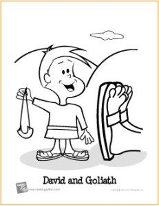 David And Goliath Sling Shot Coloring Sheet Google Search