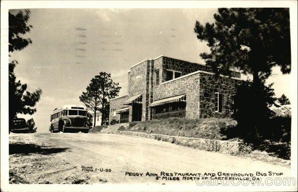 Peggy Ann Restaurant And Greyhound Bus Stop Ga Scenes From The
