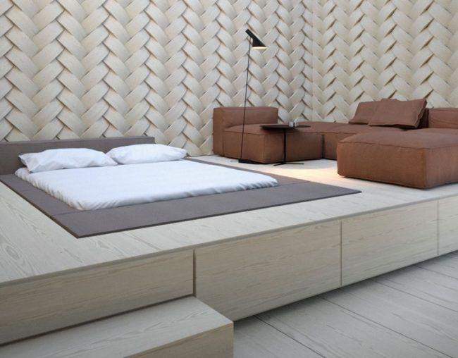 Podestbett bauen  Praktische Lsung frs moderne Schlafzimmer  Bnke  Schlafzimmer Modernes