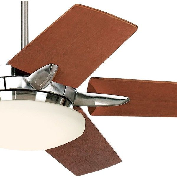 Brushed Nickel Ceiling Fan 300 Liked On Polyvore Featuring Home Decor Fans Battery Casa Vieja