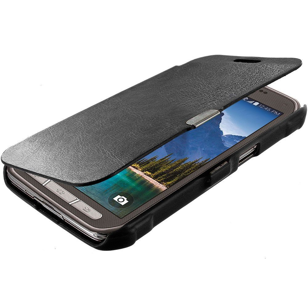 sports shoes d83a4 d4105 For Samsung Galaxy S5 Active Magnetic Wallet Closing Hard Case Cover ...