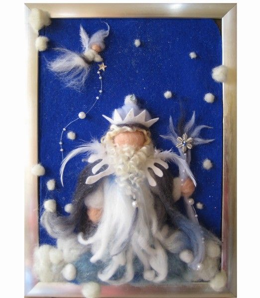 Koning Winter van sprookjeswol en vilt