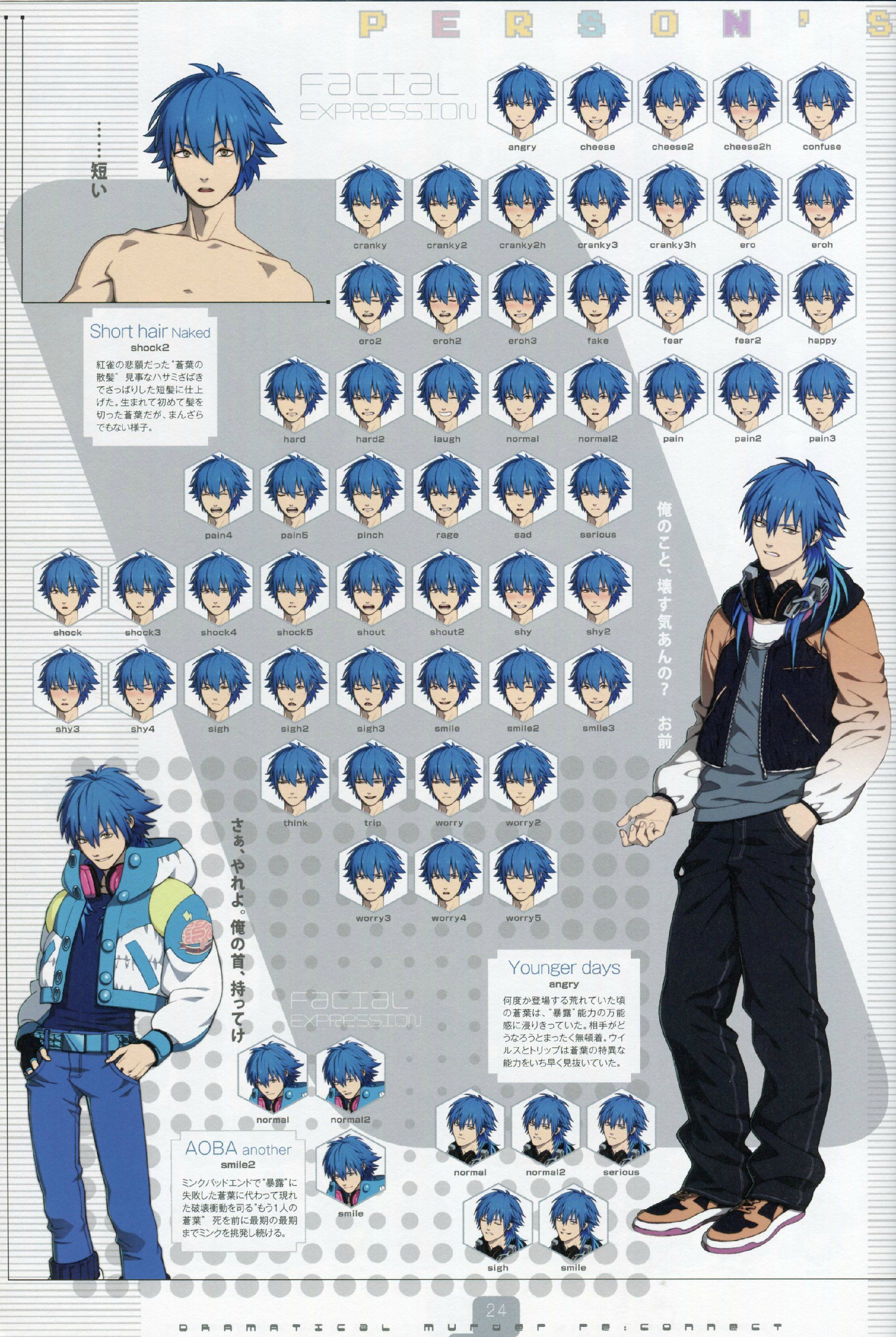 Seragaki Aoba + Sly Blue with facial expressions dmmd ...
