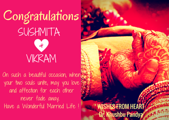 Wedding Wishes Card Sample