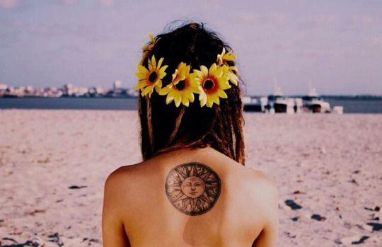 flowered & dreaded & tattooed boho-girl by laquamarine
