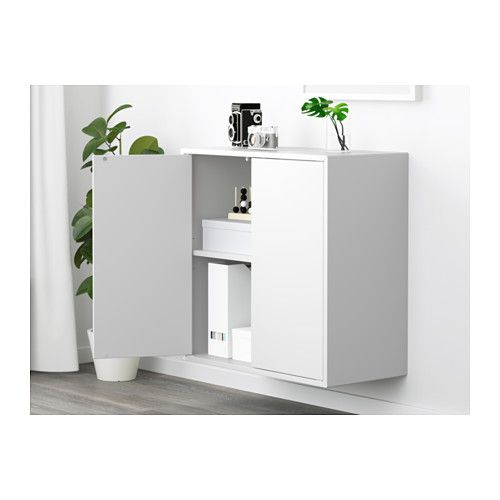 Ikea Eket Cabinet With 2 Doors And Shelf White Apartment Ideas