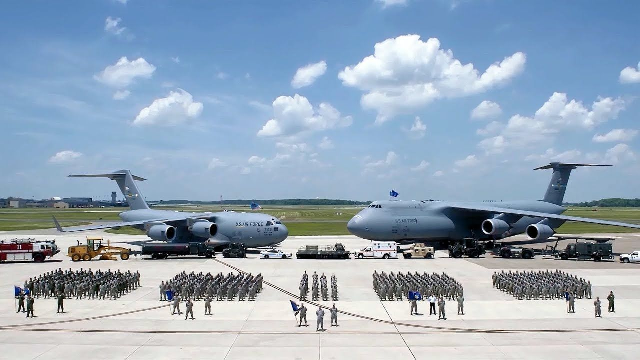 Dover Air Force Base is located in the center of the