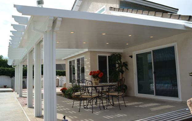 12 X 22 Insulated Aluminum Patio Cover Kit W Recessed Lights Multiple Sizes Patio Aluminum Patio Covers Patio Design