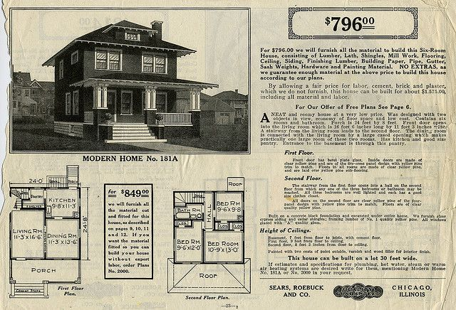 Sears Foursquare The Langston Or 181a Four Square Homes Vintage House Plans Four Square