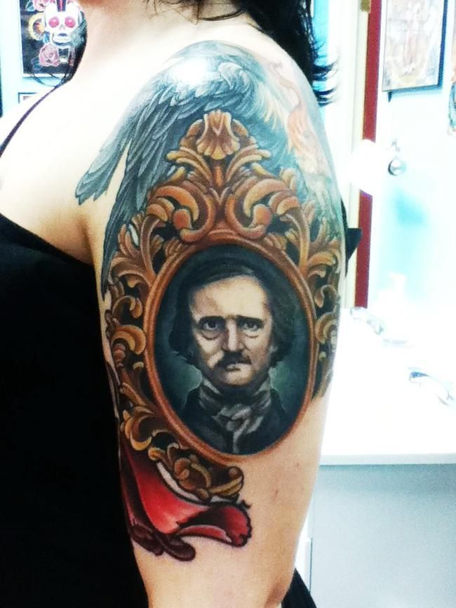 Tatuaje Calavera Johnny Depp awesome !!! an allan edgar poe tattoo !!! | building | pinterest