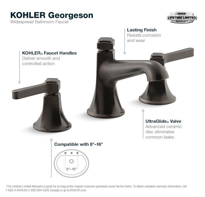 Georgeson Oil Rubbed Bronze Widespread Bathroom Faucet Bathroom