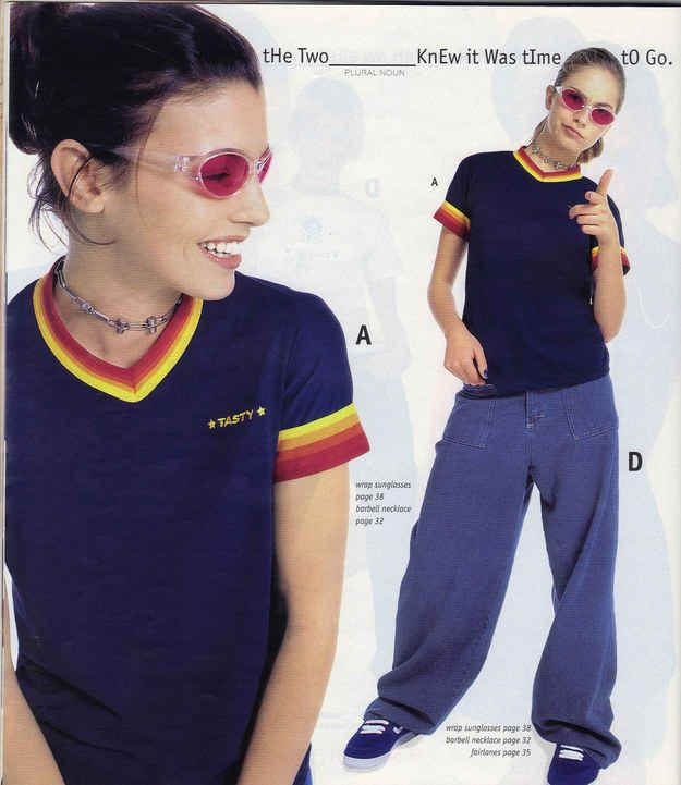 This rainbow-edged shirt. | 23 Of The Most '90s Fashions From The Spring '97 Delia's Catalog