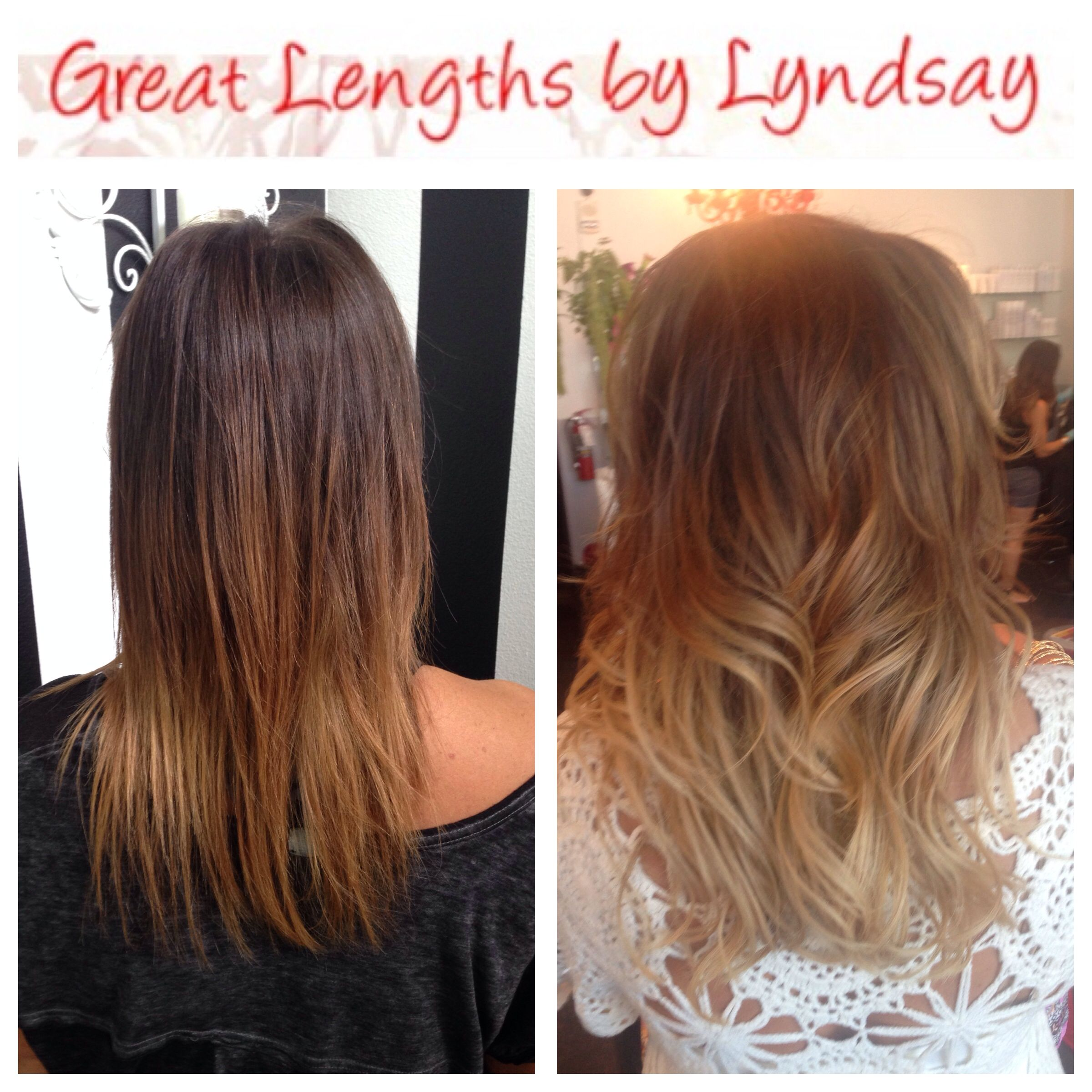 Great Lengths Hair Extensions Creating Dramatic Volume Sombre By Lyndsay Maderis