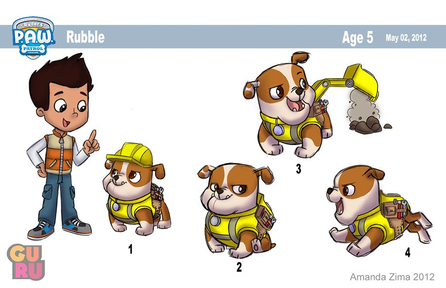 Some More Paw Patrol Model Sheet Stuff That I Drew The First 3 Images Are The Final Designs That I Submitted For Paw Patrol Paw Patrol Toys Paw Patrol Party
