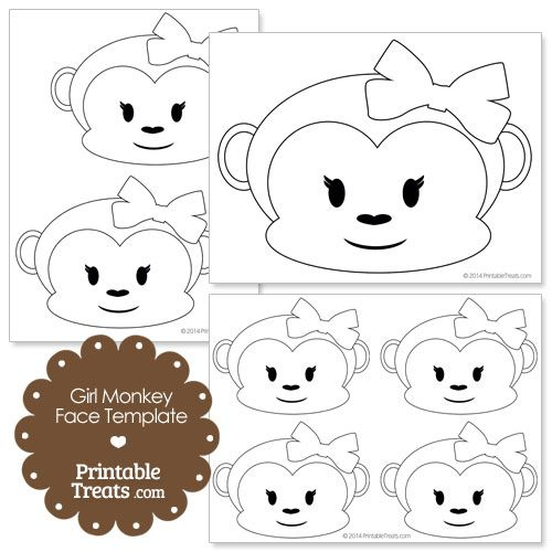 printable girl monkey face template projects to try in 2018