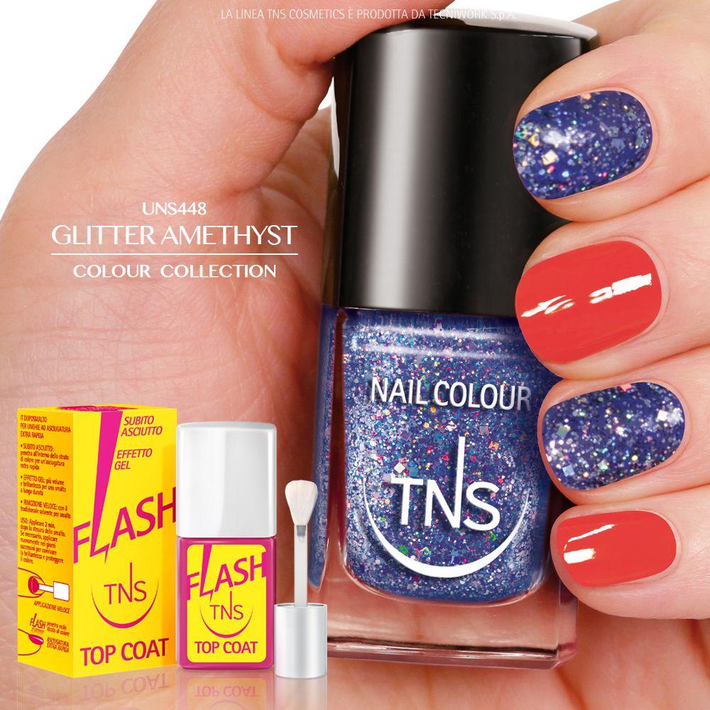 UNS448 - GLITTER AMETHYST Un concentrato di riflessi tra l'indaco e il violetto, un arcobaleno di nuances estive e ultra glamour!
