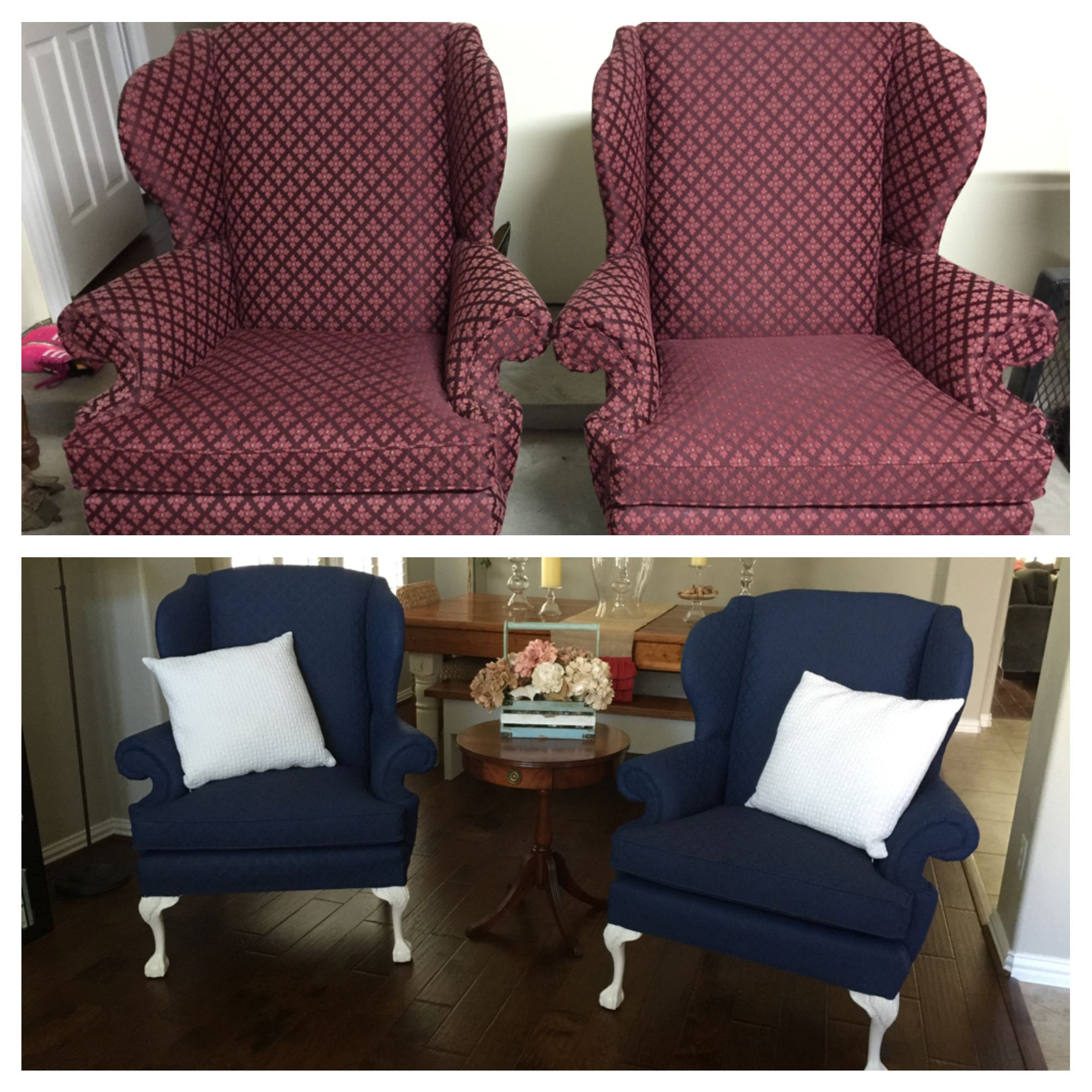 Painted Upholstery With Annie Sloan Chalk Paint Napoleonic Blue