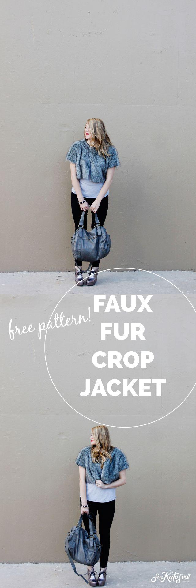 FREE PATTERN: faux fur cropped jacket | Garment Sewing | Pinterest ...