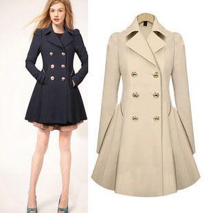 tan trench coat for women desigual coat 2013 spring female medium ...