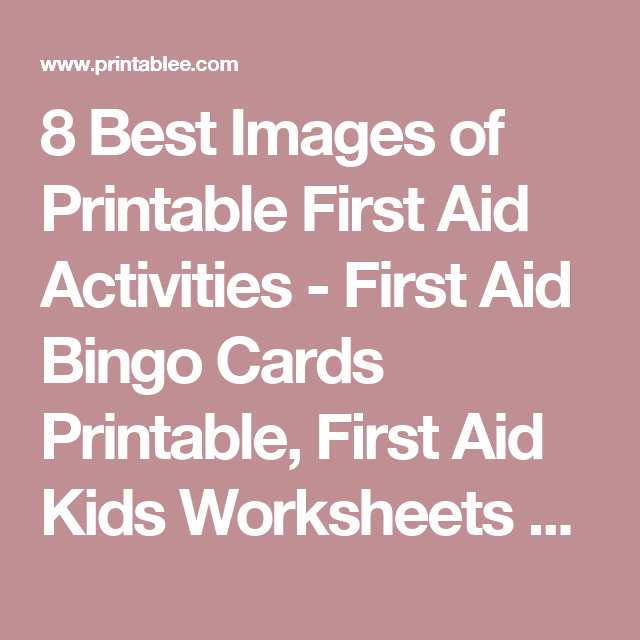 graphic relating to First Aid Cards Printable identified as Pin upon Brownie ELF