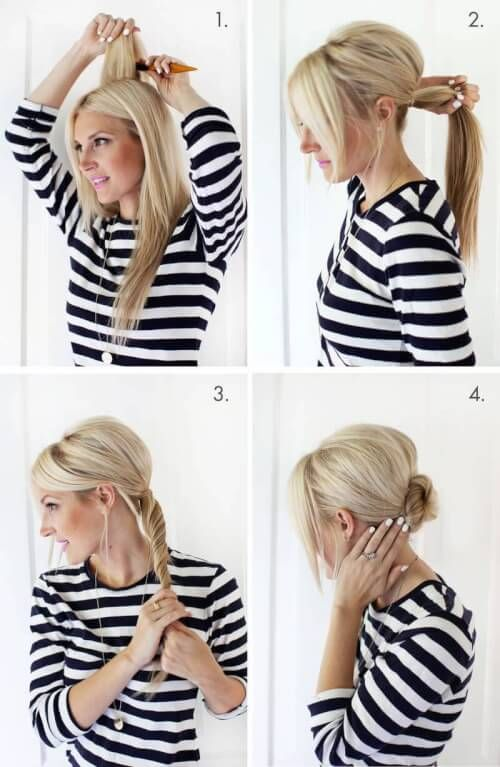 Simple Chignon Updo Haircuts For Fine Hair In 2018 Pinterest