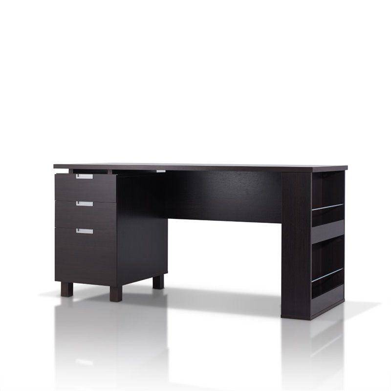 Furniture Of America Nickolas Modern Wooden Office Desk In