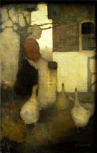 """Jan Mankes """"Ganzenliesje""""  (diligent geese?) 1911 by claudia"""