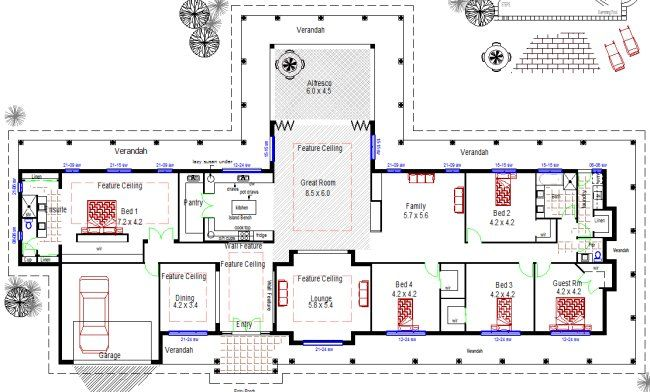 Homestead Colonial Large 4 Bedroom Home Floor Plan 594 M2 Size House Plans Australia Large House Plans Australian House Plans
