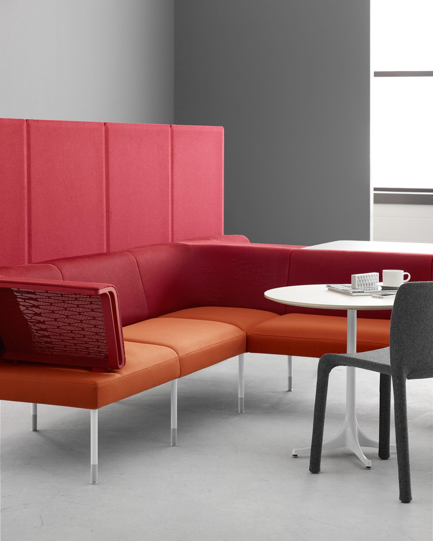 Public Office Landscape Sectional Seating. El intercambio de ideas fortalece los proyectos laborales. #SimplementeMober