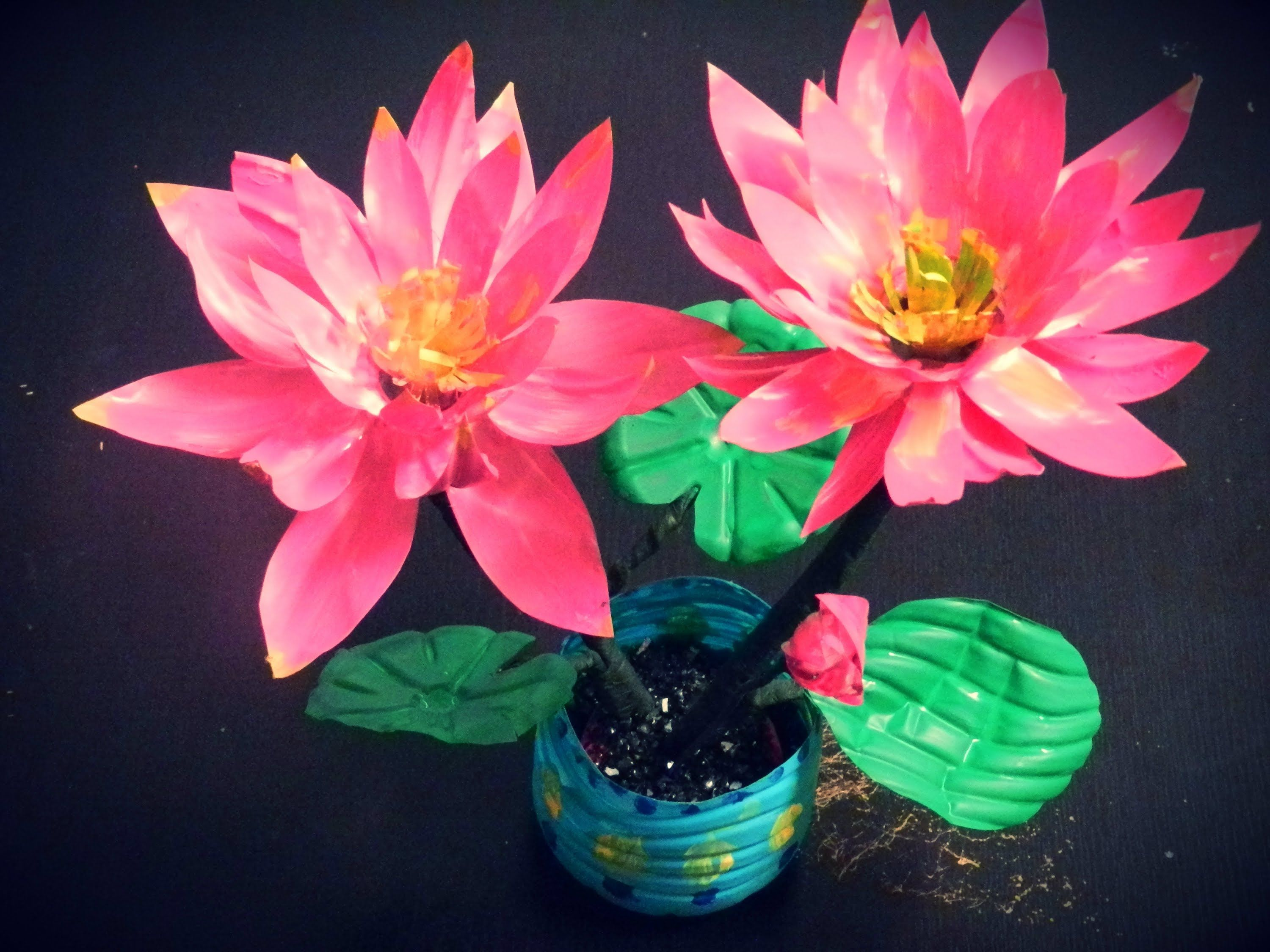 Recycled Diy How To Make Lotus Flowers With Waste Water