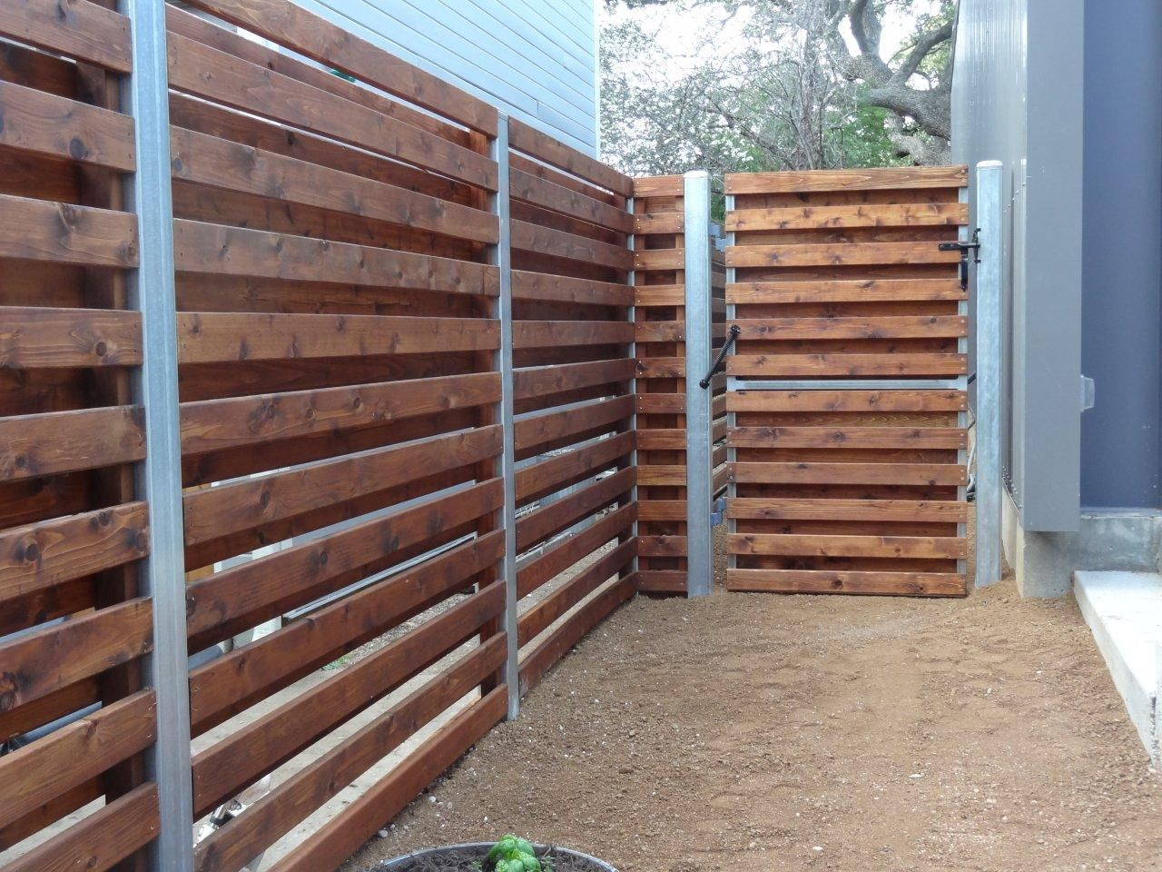 Wood Fences Gallery Viking Fence Custom Horizontal Shadowbox Gate Area Wood Fence Fence Design Shadow Box Fence