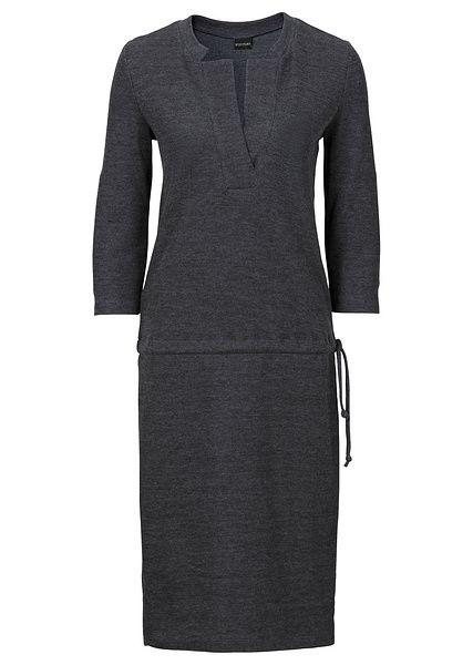 Sukienka Dzianinowa Bonprix Szary Melanz 945236 Clothes Fashion Dresses For Work