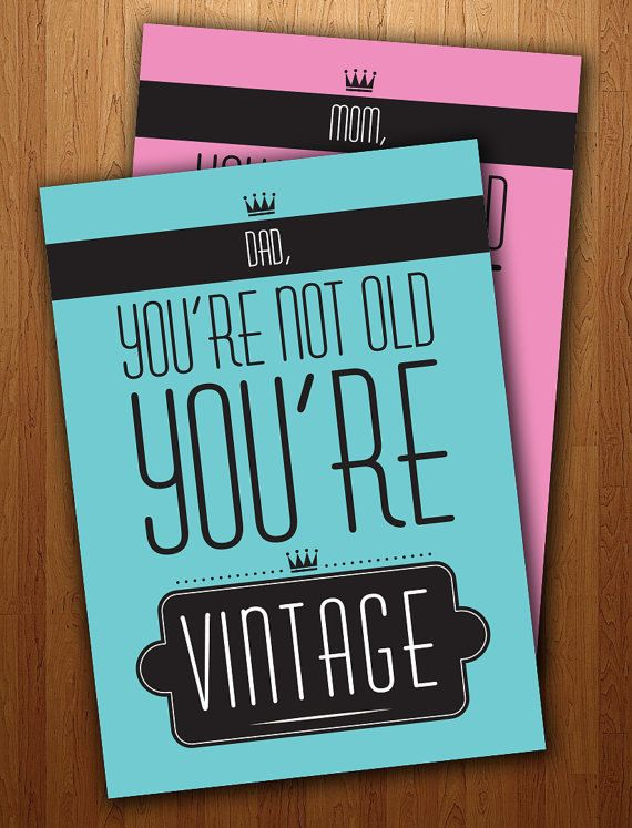 Dads Funny Vintage Birthday Card Printable Dad Pinterest