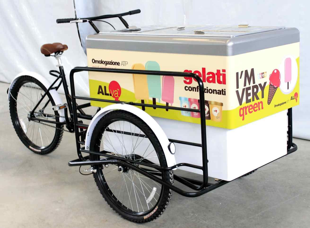 ice cream bike cart big foot with fiberglass bench for street food