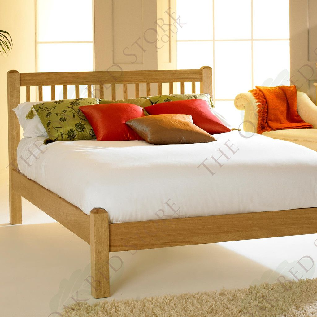 Trafalgar solid oak bed frame ft single solid oak beds oak bed