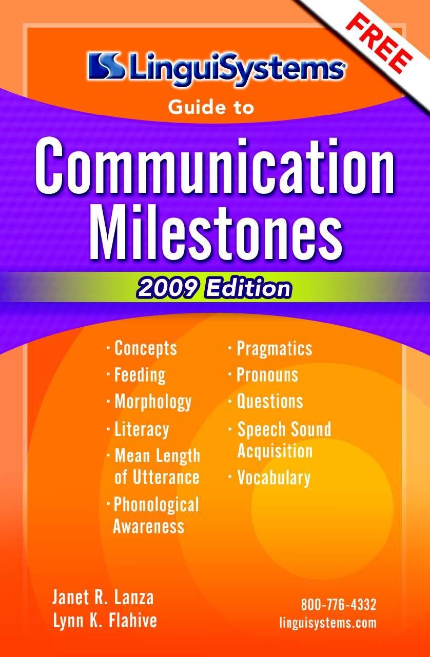 free communication milestones guide from linguisystems http www rh pinterest com Milestone Communications Maine Communication Developmental Milestones
