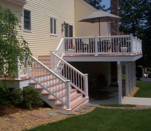 Pin By James Adams On For The Home Deck Stairs Deck Design