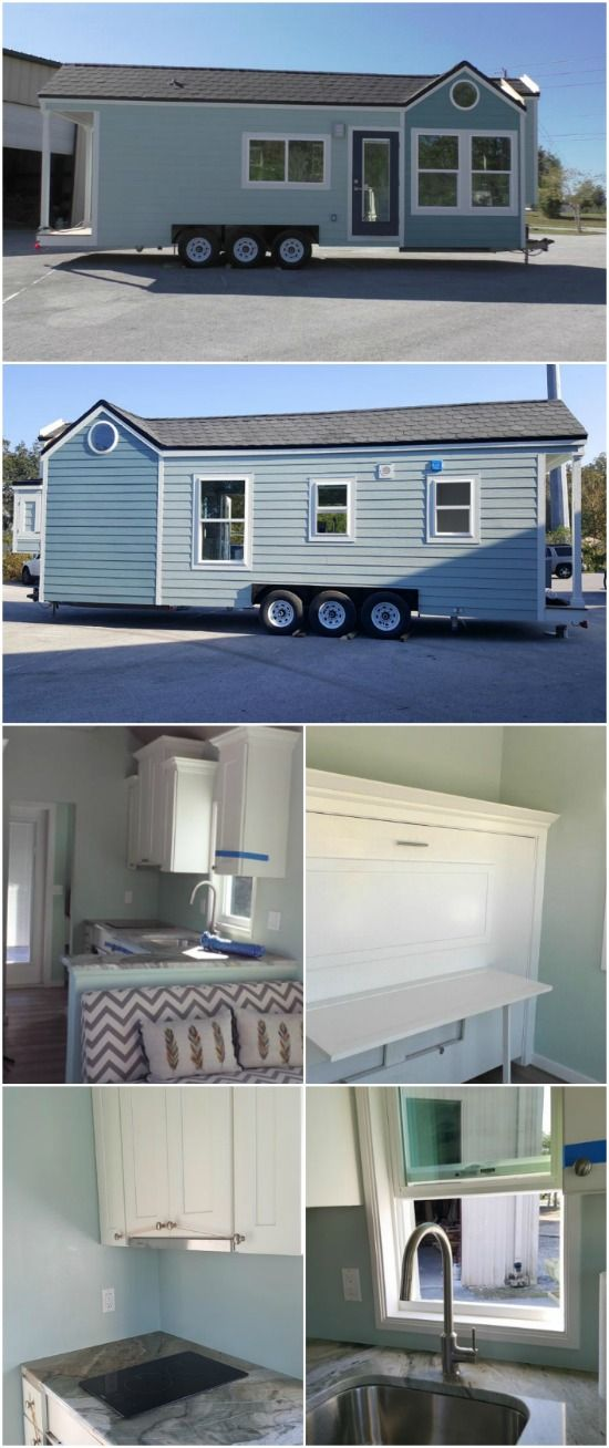 Serene Tiny House By Cornerstone Builders Finds New Home At The Beach Tiny House Big Living House Tiny House Community
