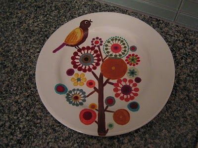 Summer Plate Idea Pottery Painting Pottery Designs Pottery Painting Designs