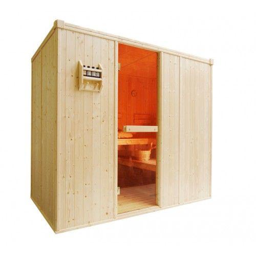 Cabina De Sauna Finlandesa De Madera 3 Bancos Para 3 4 Personas - Cabina-sauna