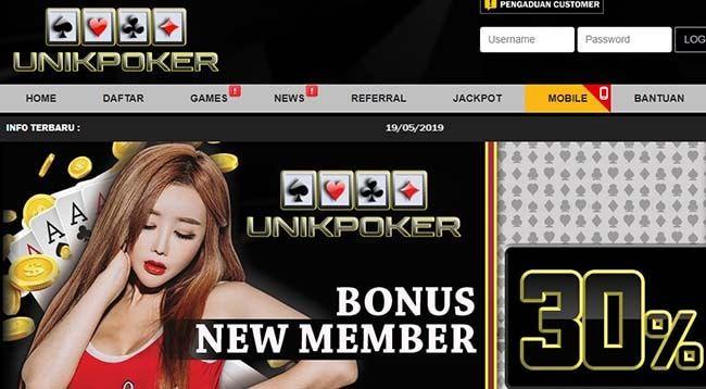 Unikpoker Agen Poker Online Terpercaya dan Terbaru Tahun